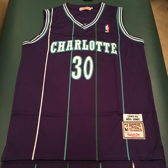 the best attitude 09a73 7d165 Dell Curry Charlotte Hornets NBA Jersey
